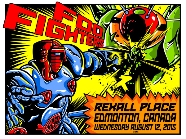 FOO FIGHTERS REXALL PLACE ROCK GIG POSTER