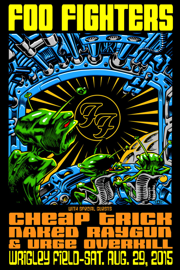 FOO FIGHTERS WRIGLEY FIELD ROCK GIG POSTER